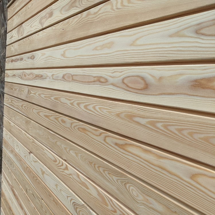 Our solid larch fence panels are available in any size and come in modular sections.