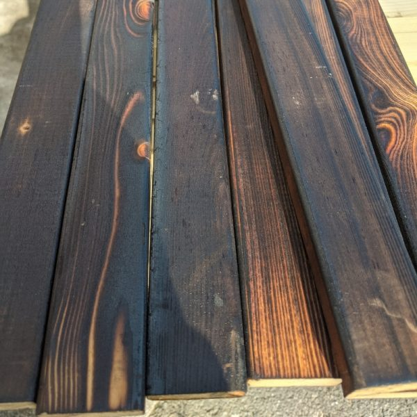 Our Yaki Sugi fence slats are charred to create a stylish aesthetic