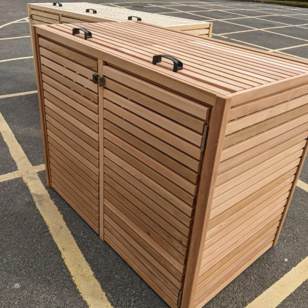 Our slatted cedar bin stores can be tailored to suite any size