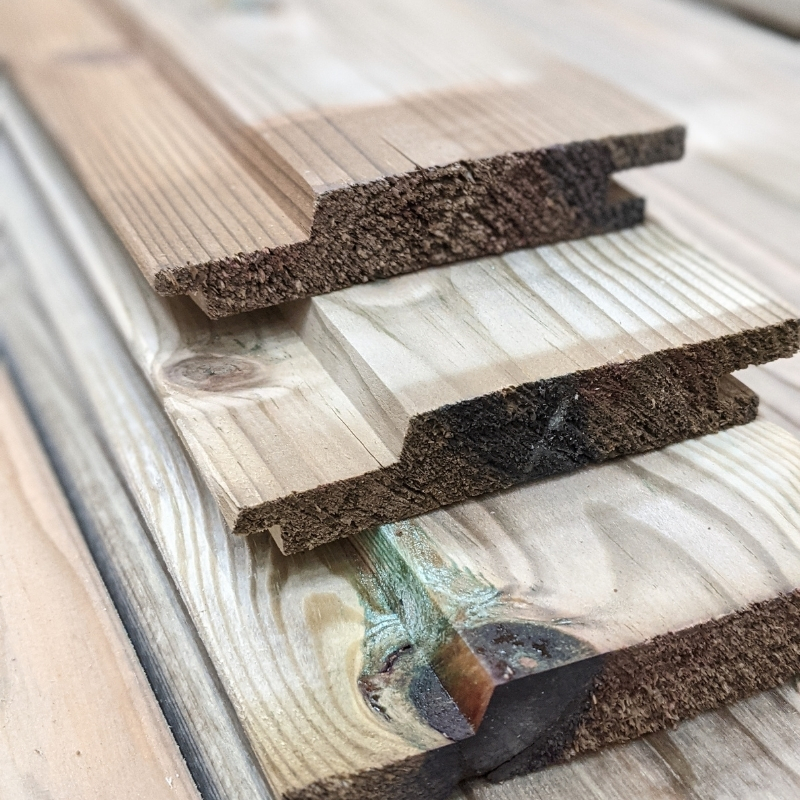 The pressure treated channel cladding is available in both 2.4m and 4.8m lengths