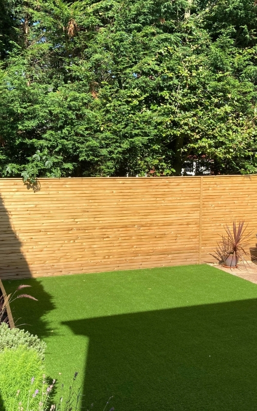 This project uses our collection of pressure-treated interlocking slats.
